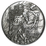 2014 2 oz Silver High Relief Coin Gods of Olympus - Zeus