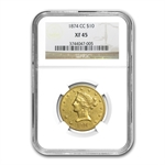 1874-CC $10 Liberty Gold Eagle - XF-45 NGC