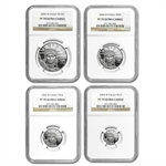 2004-W 4-Coin Platinum American Eagle PF-70 NGC Registry Set