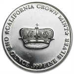 1 oz MG Crown Silver Round .999 Fine