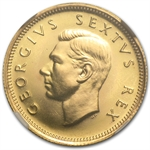South Africa 1952 Gold 1/2 Pound George VI (NGC PF-67)