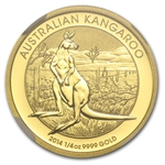 2014 1/4 oz Australian Gold Kangaroo MS-67 NGC Mint Error