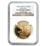 1988 1 oz Proof Gold Britannia PF-69 UCAM NGC
