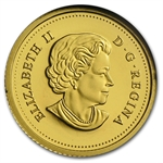 2014 1/25 oz Gold Canadian $0.50 Beaver