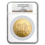 2009 20 oz Gold Austrian Philharmonic NGC MS-66 (20th Ann)