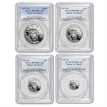 1997-W 4-Coin Proof Platinum Eagle PR-70 PCGS Registry Set