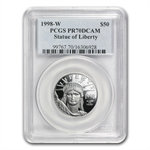 1998-W 4-Coin Platinum American Eagle PR-70 PCGS Registry Set