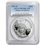 1999-W 4-Coin Platinum American Eagle PR-70 PCGS Registry Set