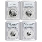 2001-W 4-Coin Platinum American Eagle PR-70 PCGS Registry Set