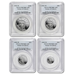 2002-W 4-Coin Platinum American Eagle PR-70 PCGS Registry Set