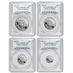 2003-W 4-Coin Platinum American Eagle PR-70 PCGS Registry Set