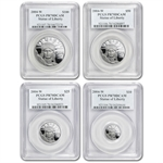 2004-W 4-Coin Platinum American Eagle PR-70 PCGS Registry Set