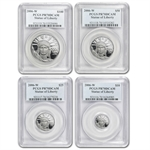 2006-W 4-Coin Platinum American Eagle PR-70 PCGS Registry Set