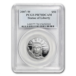 2007-W 4-Coin Platinum American Eagle PR-70 PCGS Registry Set