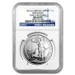 2014 1 oz Silver Britannia MS-69 PL NGC - Early Release