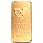 5 oz Gold Engelhard Bar ('Eagle' logo, Assay Card) .9999 Fine