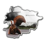 Andorra 2013 Proof Silver Nature Treasure Map Shaped - Squirrel