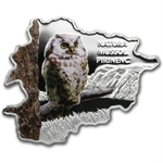 Andorra 2013 Proof Silver Nature Treasure Map Shaped - Owl