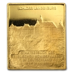 1/4 oz Queen Elizabeth II & Duke Edinburgh Gold Square .986 Fine