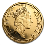 Isle of Man 1991 Gold 1/2 Sovereign (Shields) BU/Proof