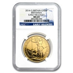 2014 1 oz Gold Britannia MS-69 NGC Early Release