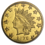 1876 BG-1065 Indian Round 50 Cent Gold MS-64 PCGS