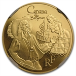 2012 1/4 oz Gold Heroes of French Literature - Cyrano PF-70 NGC