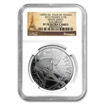 2013 Silver 100th Edition Tour de France-White Jersey - PF-70 NGC