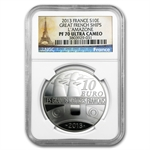 2013 Silver Proof Great French Ships - L'Amazone - PF-70 NGC