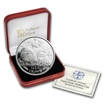 Isle of Man 2009 1 Crown Silver Proof Chinchilla Cat