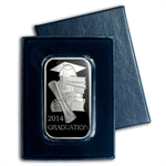 2014 1 oz Graduation Enameled Silver Bar (w/Gift Box & Capsule)