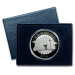 2014 1 oz Graduation Enameled Silver Round (w/Box & Capsule)