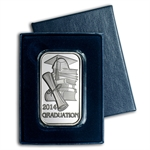 2014 1 oz Graduation Silver Bar (w/Gift Box & Capsule)