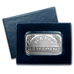 2014 1 oz Happy Retirement Silver Bar (w/Gift Box & Capsule)