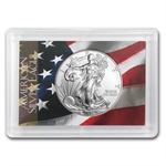2014 1 oz Silver American Eagle - Flag Design Harris Holder