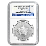 2014 1 oz Silver Canadian Maple Leaf MS-69 NGC Early Releases