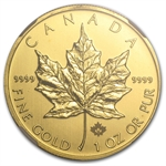 2014 1 oz Gold Canadian Maple Leaf Gem Unc NGC Early Releases