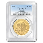 2014 1 oz Gold Austrian Philharmonic MS-70 PCGS