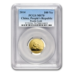 2014 (1/4 oz) Gold Chinese Panda - MS-70 PCGS