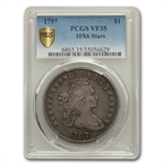 1797 Draped Bust - Small Eagle 10x6 Stars Very Fine-35 PCGS