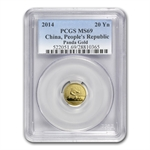 2014 (1/20 oz) Gold Chinese Panda - MS-69 PCGS
