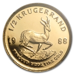 1988-GRC 1/2 oz Gold South African Krugerrand PF-68 UCAM NGC