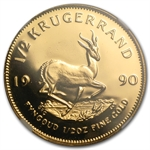 1990 GRC 1/2 oz Gold South African Krugerrand PF-68 UCAM NGC
