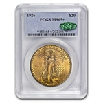 1926 $20 St. Gaudens Gold Double Eagle - MS-65+ PCGS CAC