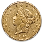 1855 $20 Gold Liberty Double Eagle - EF-40 NGC