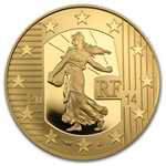 2014 1/4 oz Gold Proof The Sower - The Denier of Charles the Bald