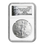 2013 (W) Silver American Eagle - MS-70 NGC - ALS Label/ER