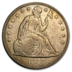 1857 Liberty Seated Dollar - Extra Fine