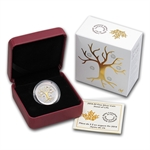 2014 1/4 oz Silver Proof Canadian $3 Jewel of Life with gilding