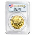 2014 1 oz Gold Buffalo MS-69 PCGS First Strike